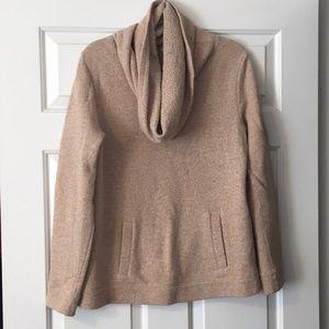 Size L J. Crew cowl neck tan sweater